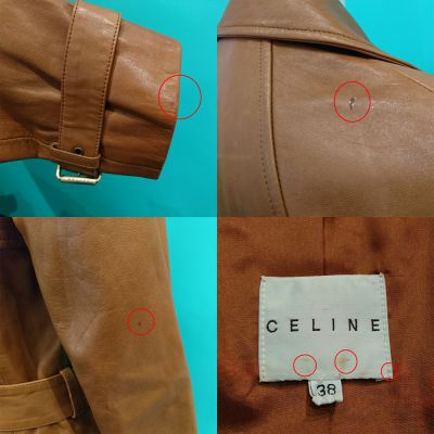 CELINE レザーコート レディース 05